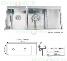 Chậu rửa bát Giovani GS-10050 HM
