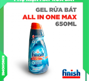 Gel rửa bát Finish All in 1 Max 650ml